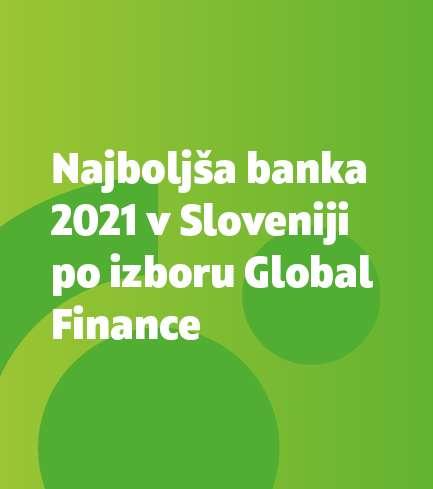 Revija Global Finance podelila SKB banki priznanje »Najboljša banka 2021 v Sloveniji«