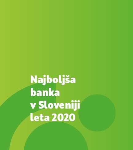 SKB banka prepoznana kot »Najboljša banka v Sloveniji leta 2020«